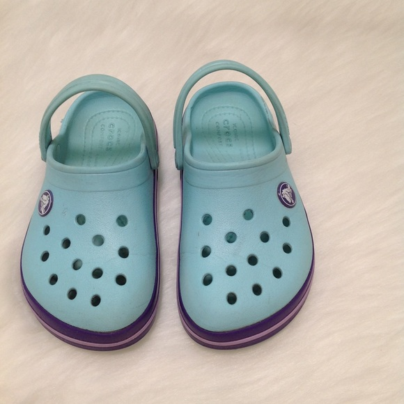 3c746ca118 CROCS Shoes | Crocband Clog Kids Light Blue Purple | Poshmark